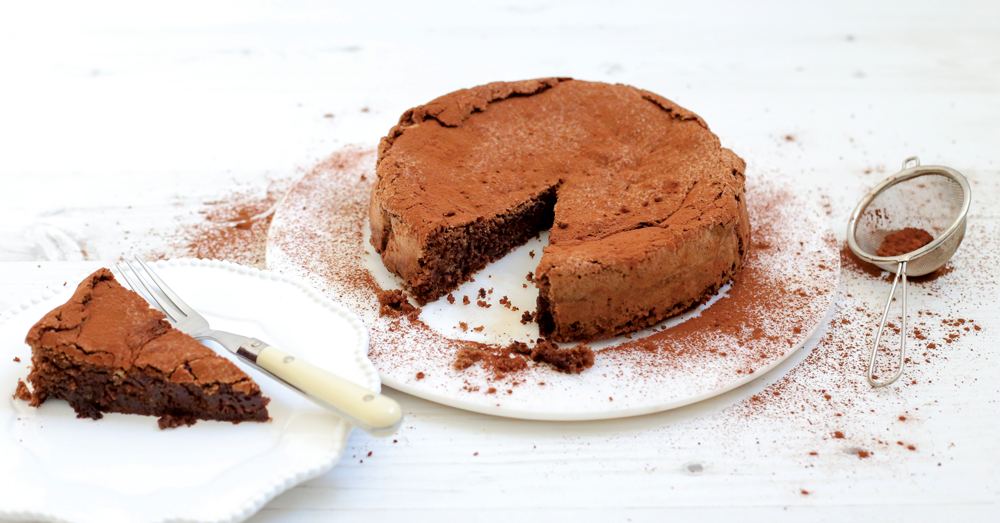 70% dark belgian chocolate torte