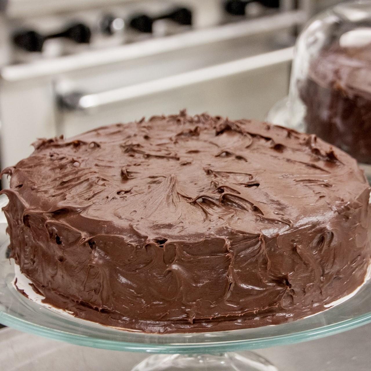 Chocolate vegan cake topping