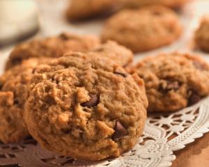 Batch of oatmeal peanut butter cookies