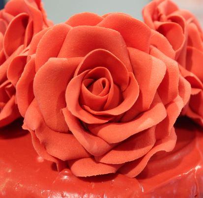 Sugarpaste red rose