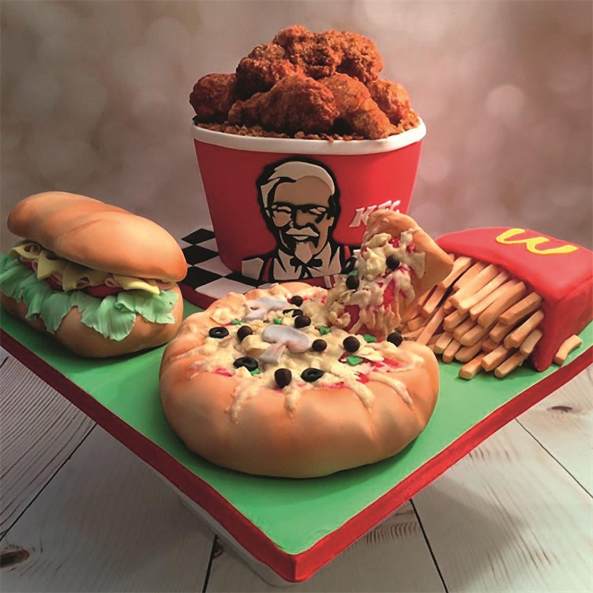 KFC illusion cake