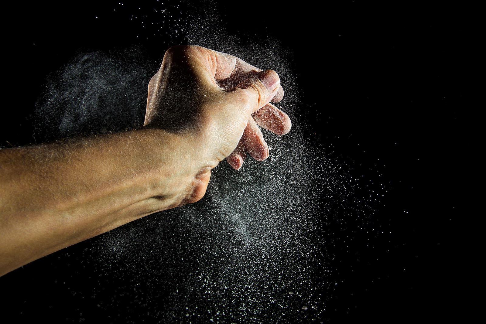 baking powder dusting
