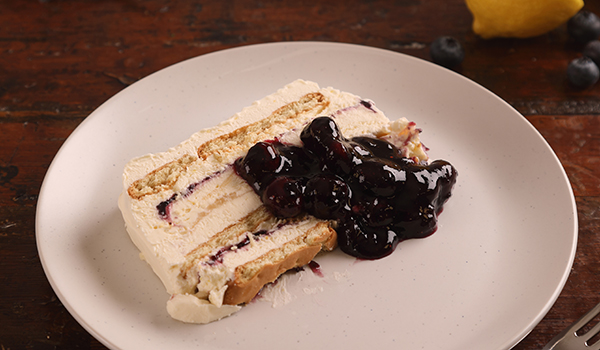 lemon curd and blueberry preserve freezer cake