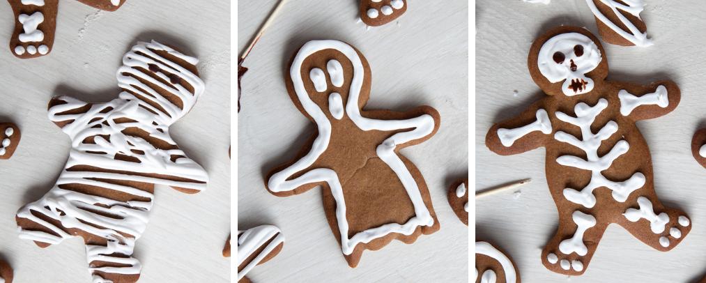 Halloween gingerbread cookies instruction 10