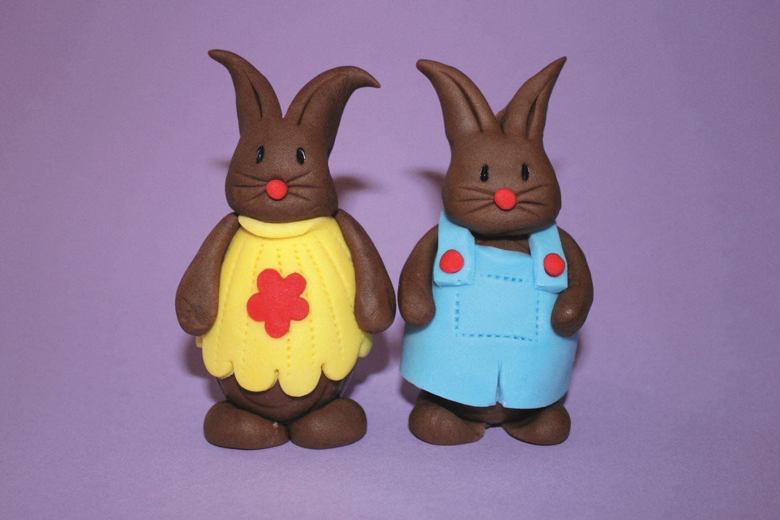 Sugar dough bunnies
