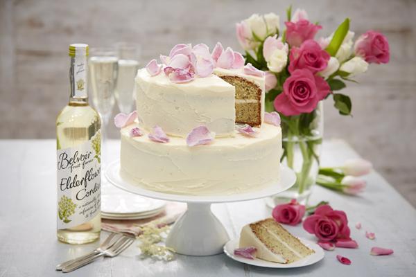 Layered lemon cake with Belvoir Elderflower Cordial