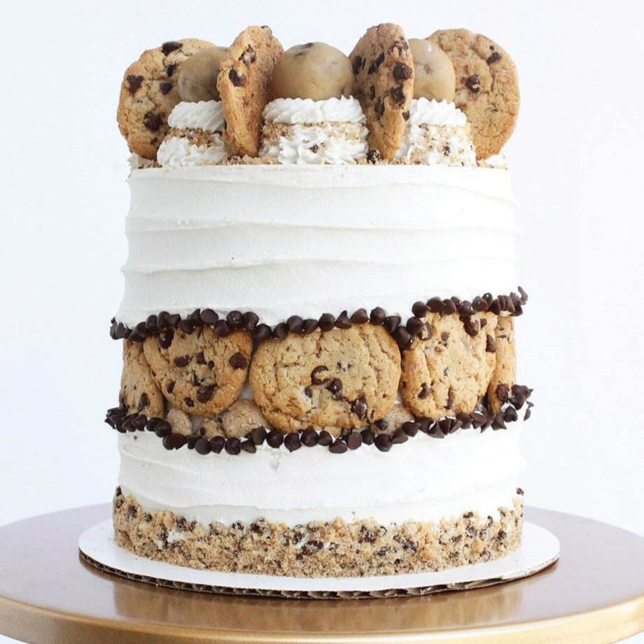 cookie fault line cake
