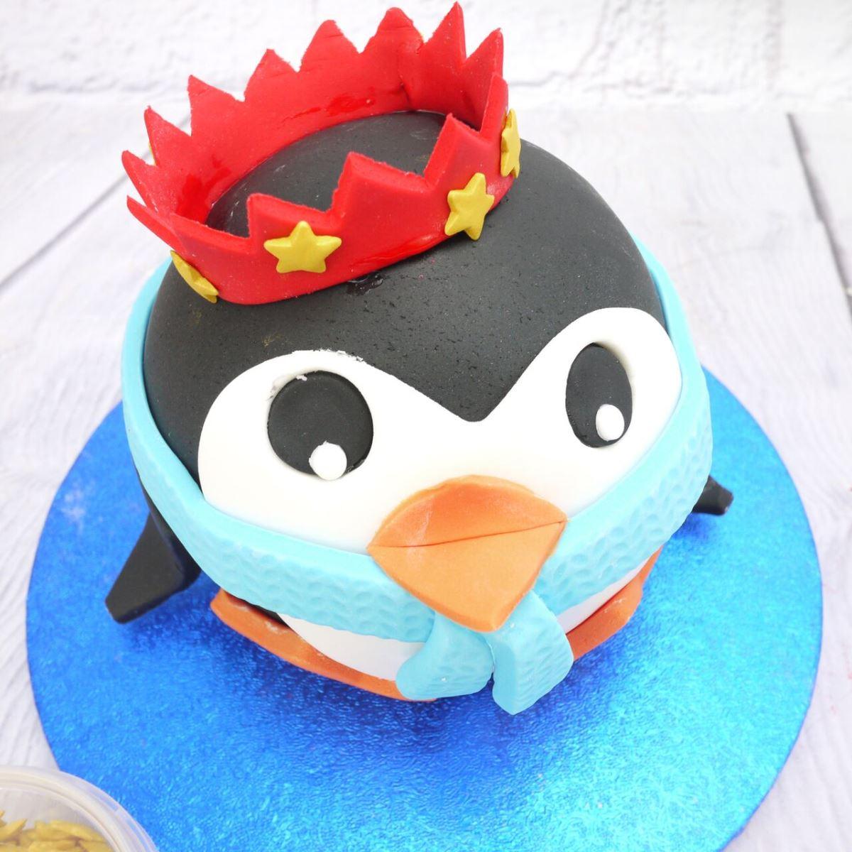 Penguin cake step 6b