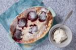 plum almond pudding