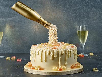 Prosecco Cascade Cake