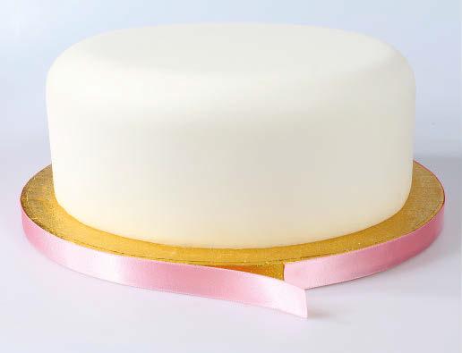 Ribbon on cake board 3