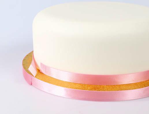 Ribbon on cake 1