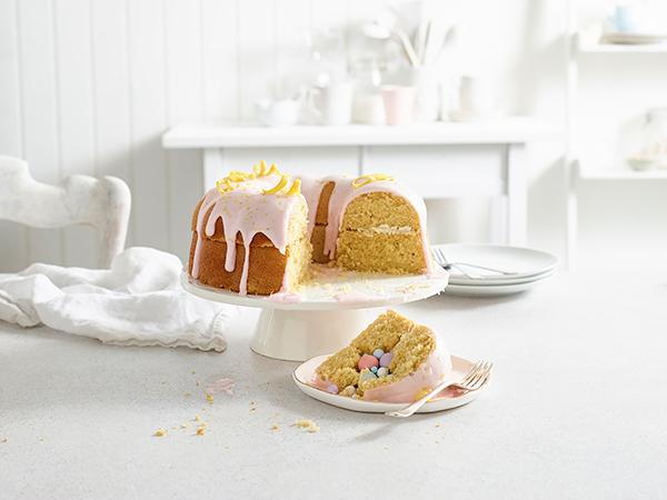 Secret treat lemon ring cake