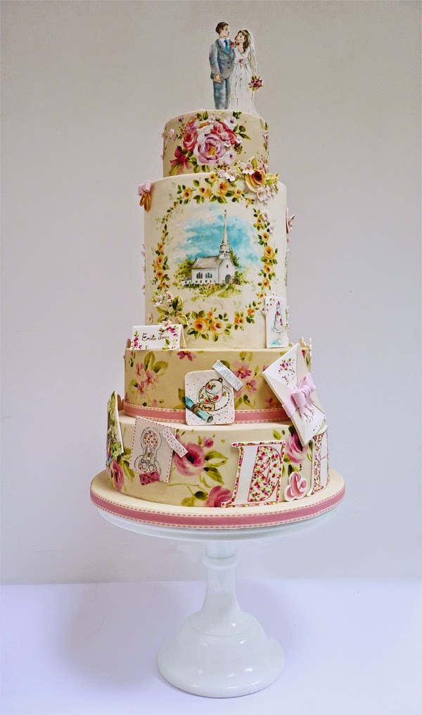 scrapbook cake