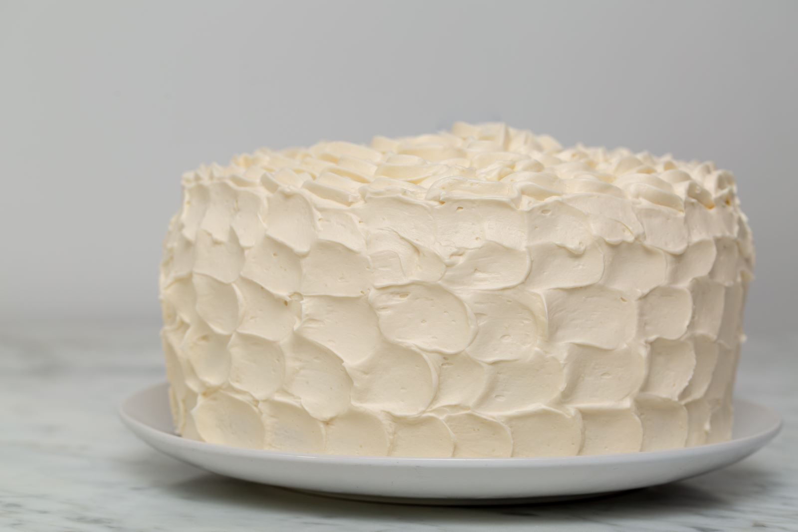 Cake with white buttercream