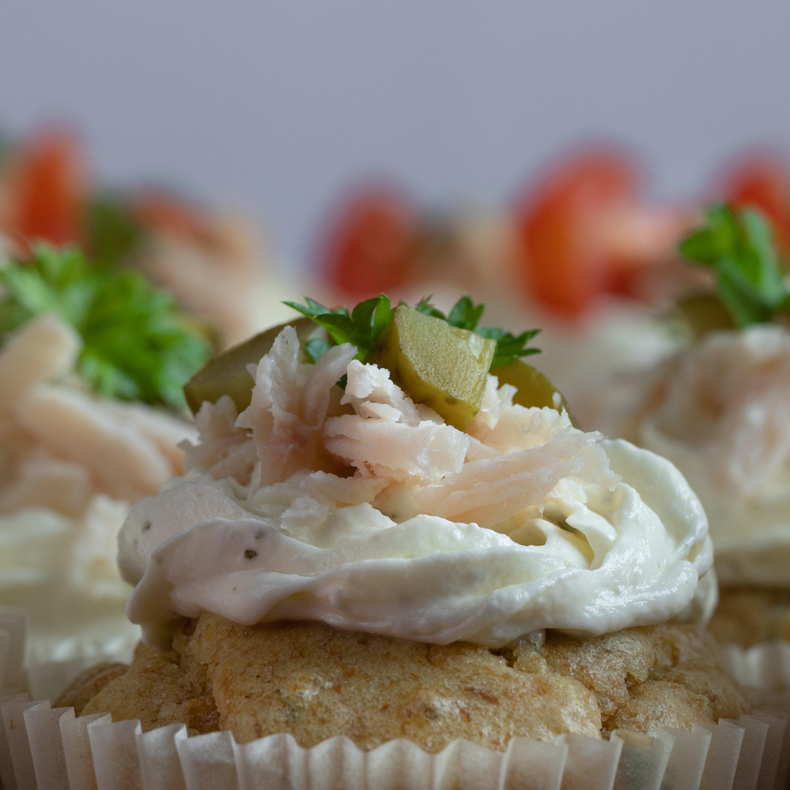Healthy vegetable cupcake