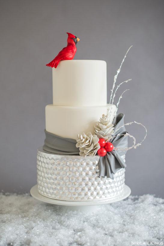 cardinal Christmas cake