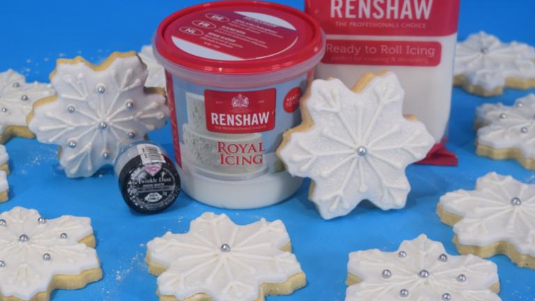 Renshaw Christmas snowflake biscuits