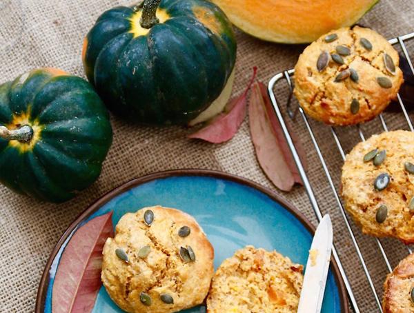 spiced pumpkin scones