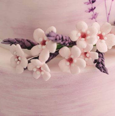 lavender and pinks floral spray
