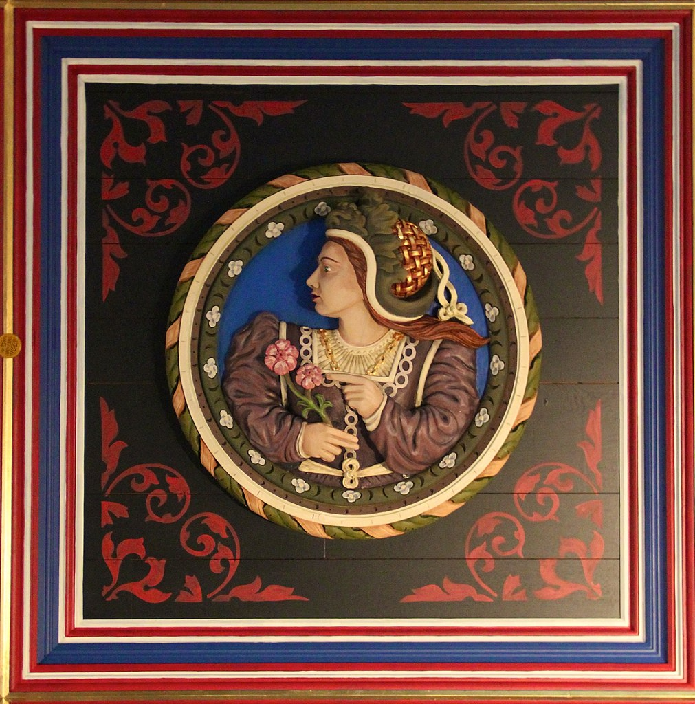 Mary of Guise on the Stirling Heads at Stirling Castle