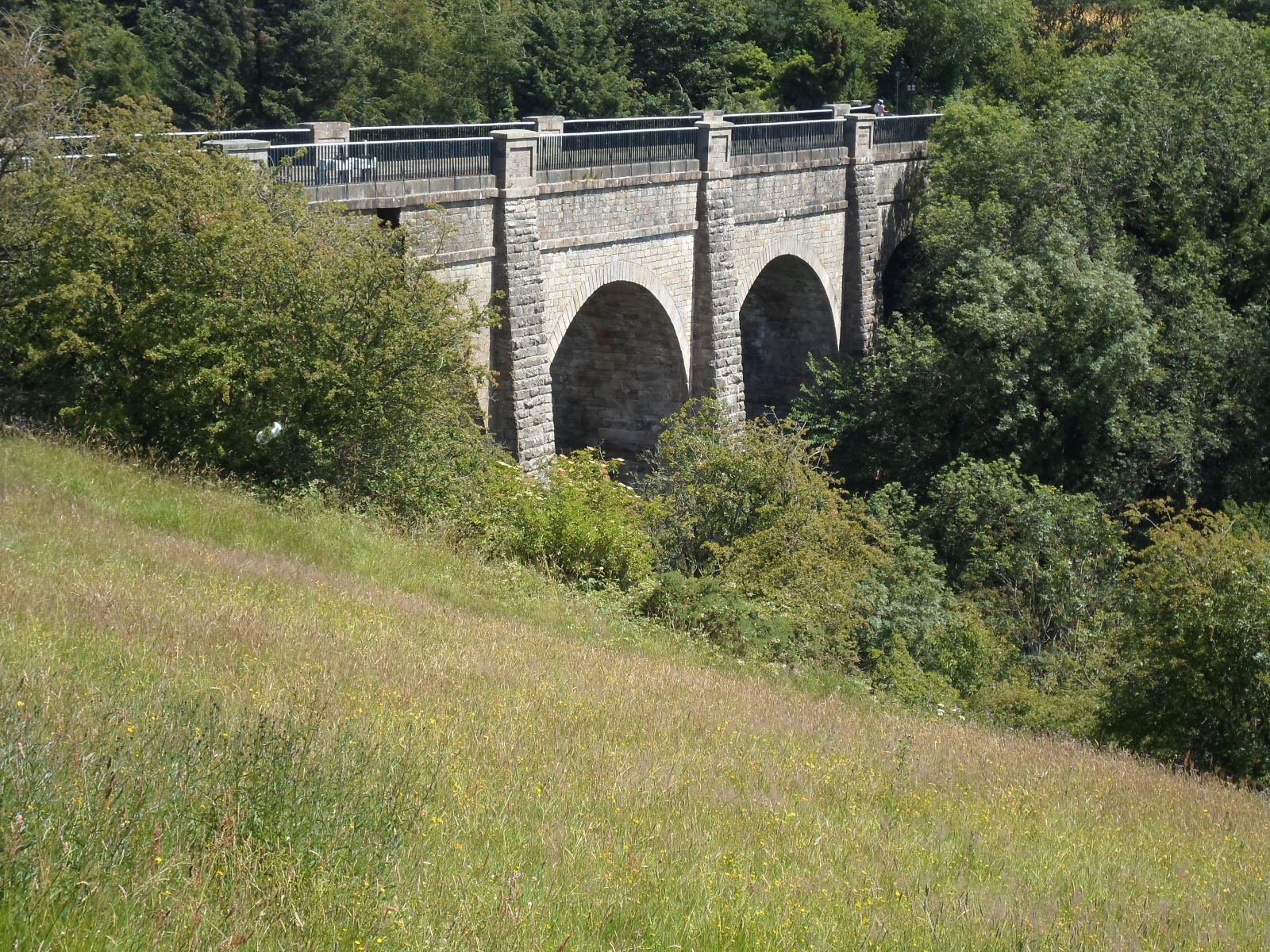 The aqueduct which carries the Union Canal over the River Almond near Ratho