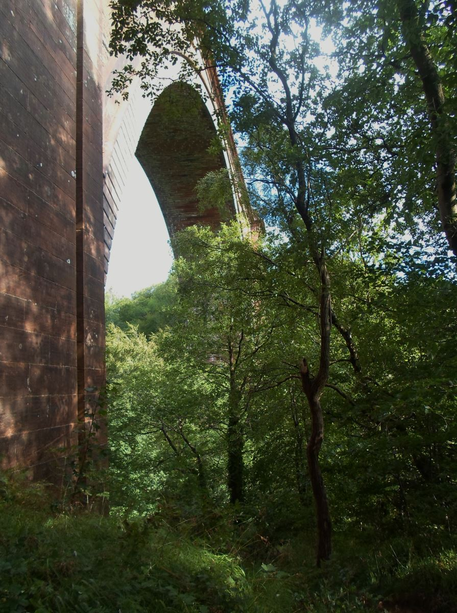 Ballochmyle Viaduct – the central arch