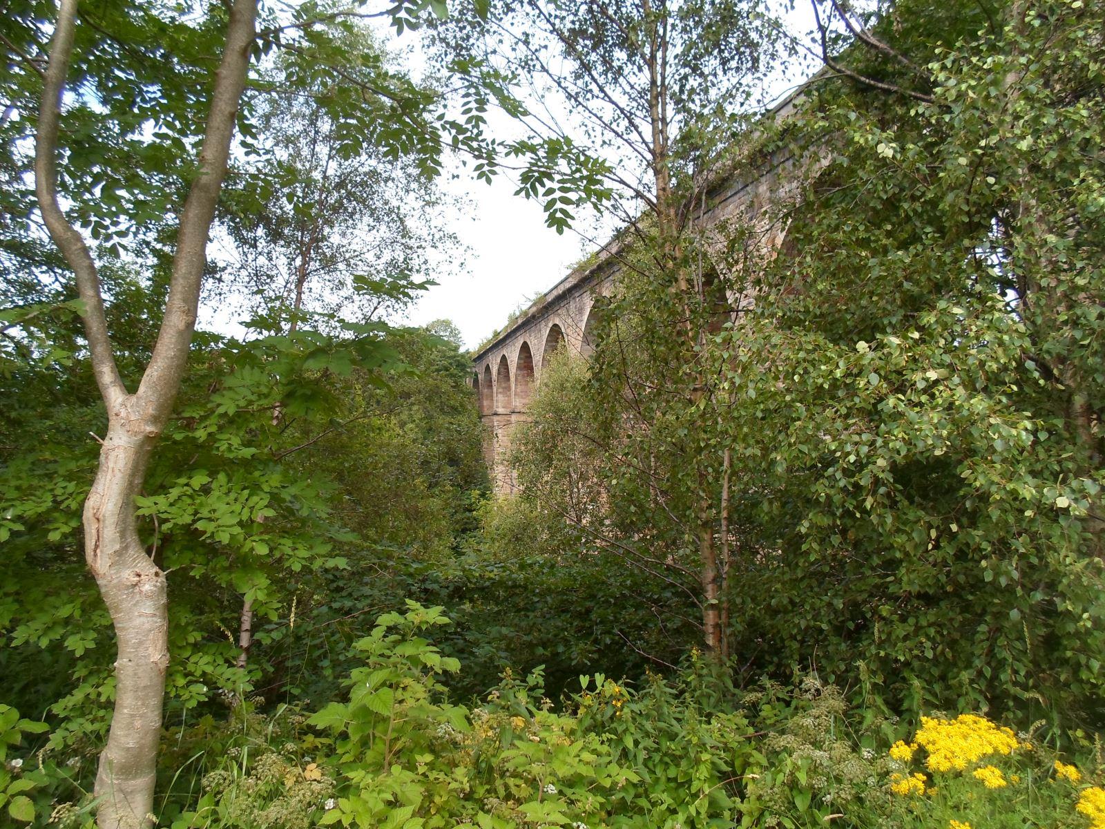 John Miller's tree-girt viaduct crossing Lugar Water at Cumnock