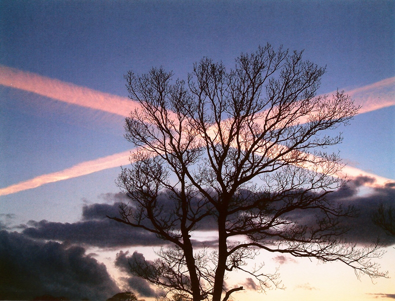 Saltire in the sky