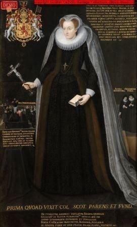 Mary Queen of Scots memorial portrait