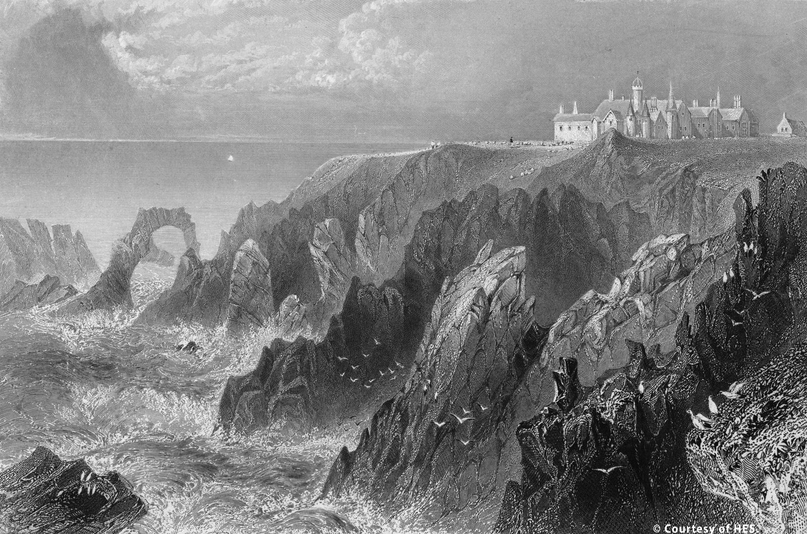New Slains Castle with its Dracula connections