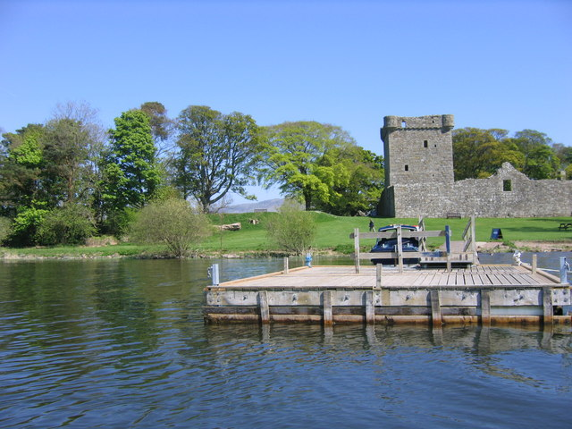 Loch Leven Castle from the ferry