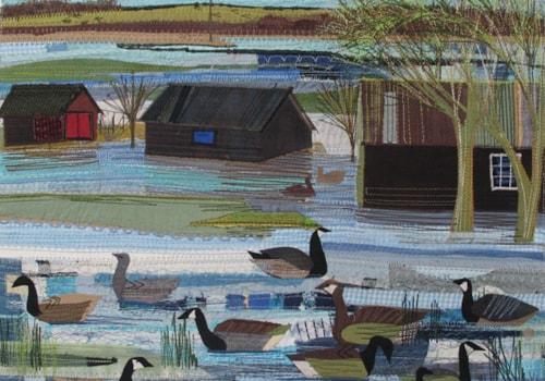 Rachel Sumner realistic water scene textiles