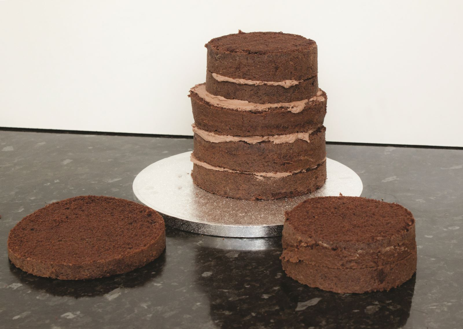 Zombie cake step 1