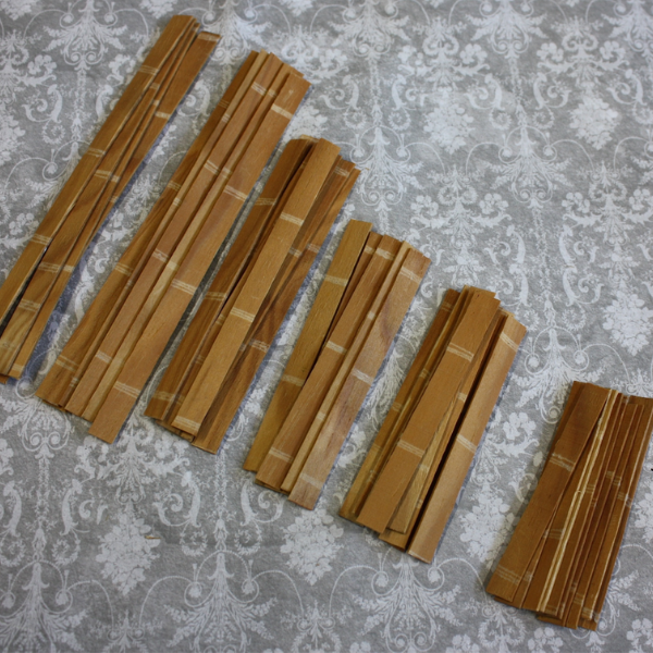 1/12th scale greenhouse wooden strips