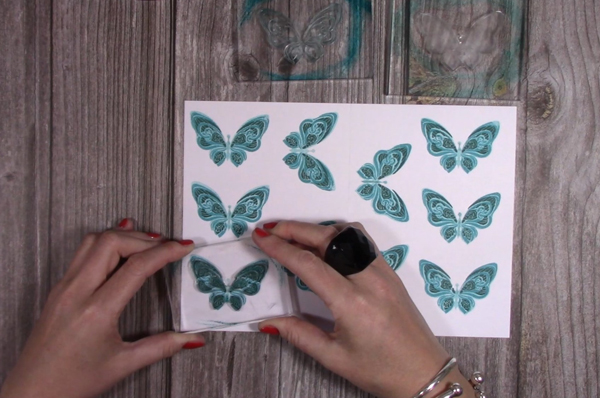 die-cutting butterfly images