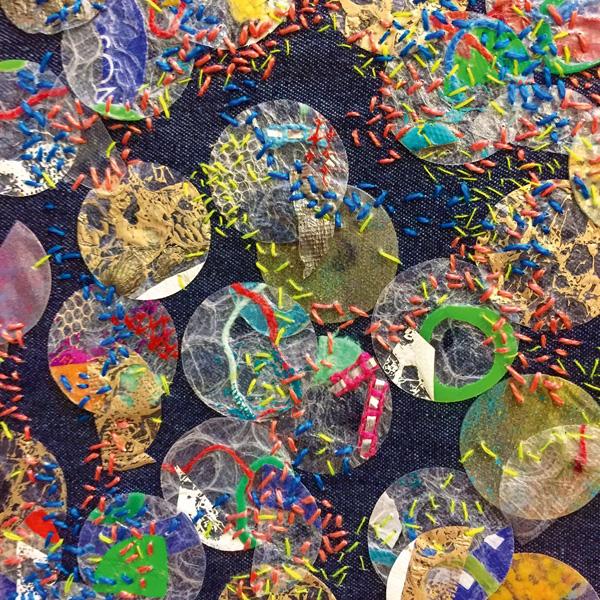 Jess Grady recycled textile art