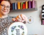 Sophie Crabb with 'You Do You' cross stitch design