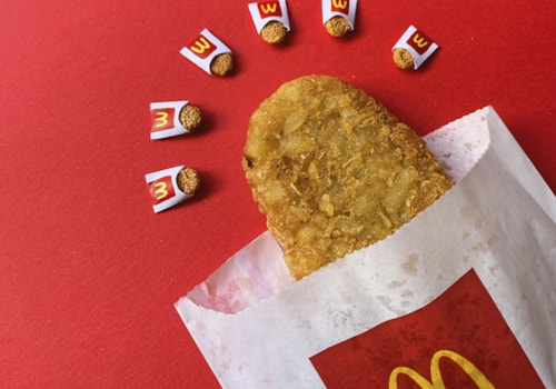 Re-creation of a McDonald's hash brown in miniature