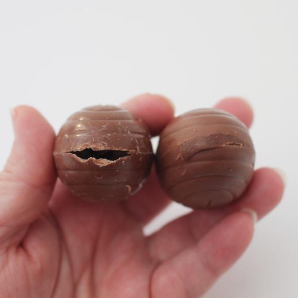 pre-made chocolate eggs