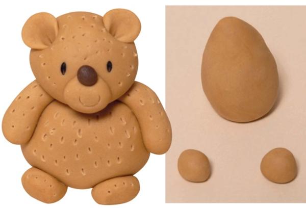 modelling a fondant teddy bear