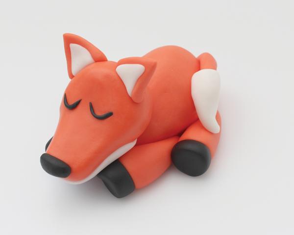 modelled fondant fox