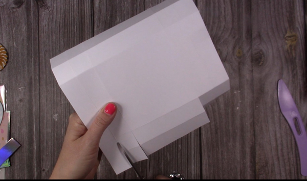 cutting lid tabs for exploding box card
