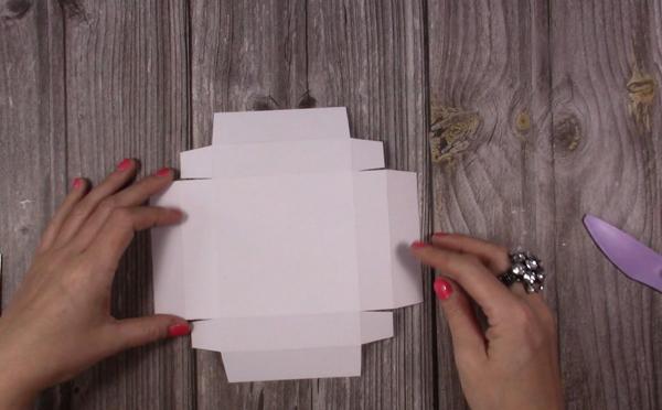 explosion box card lid