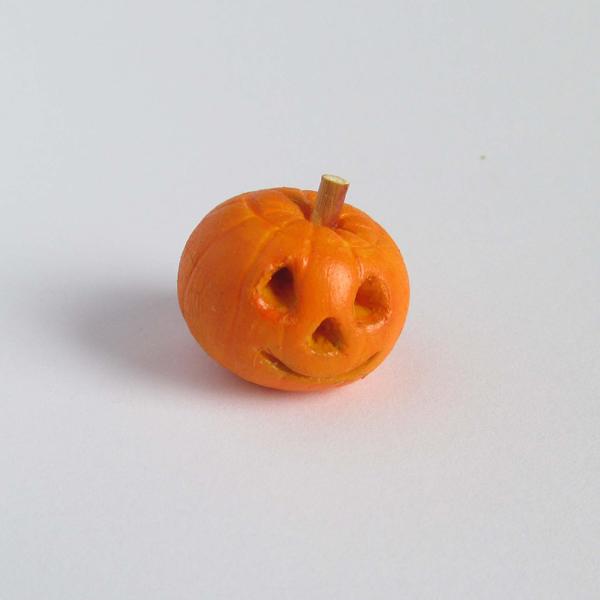 polymer clay miniature pumpkin