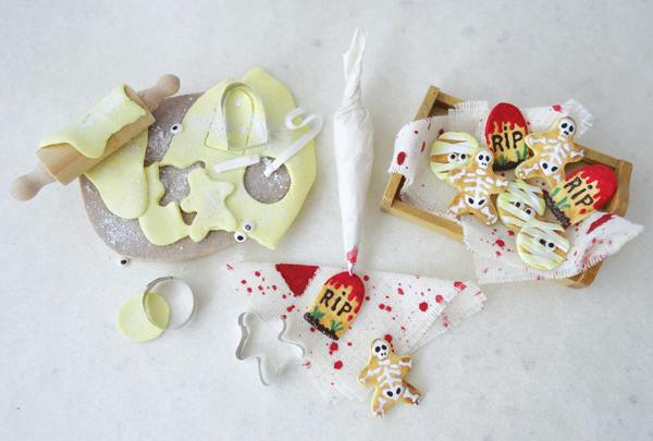 miniature halloween cookies polymer clay