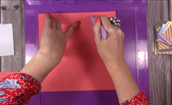 scoring cardstock for explosion box card