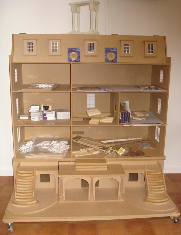 Flat pack dolls house built