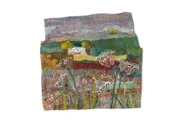 Hand stitched scenery by Jan Dowson