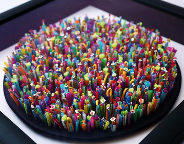 Jess Grafy embellished textile art